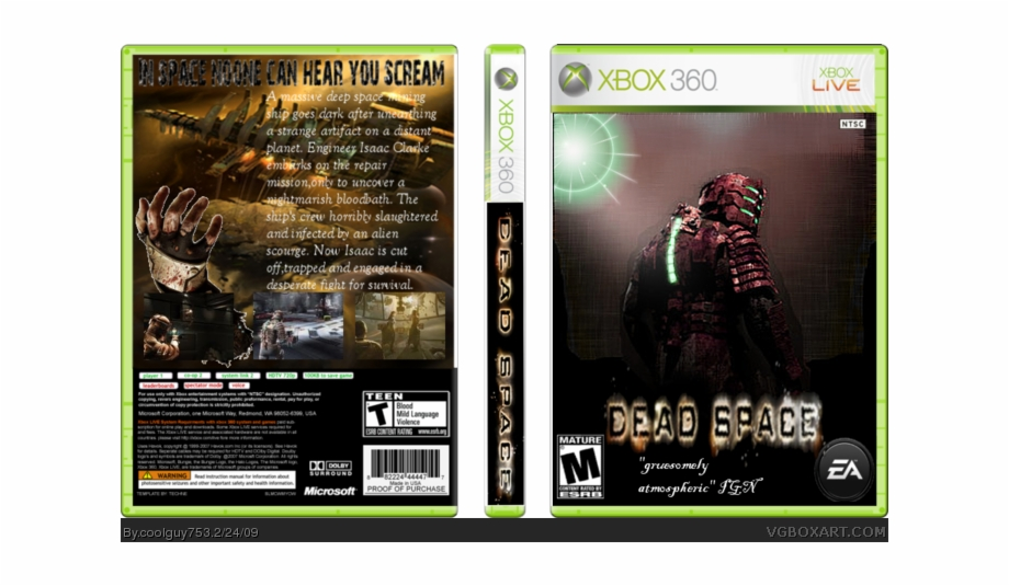 Wii clipart covers download banner royalty free library Dead Space Box Art Cover - All Xbox 360 Naruto Games Free ... banner royalty free library