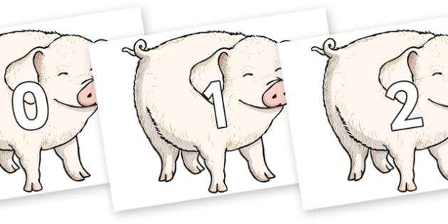 Wilbur pig wins a prize clipart