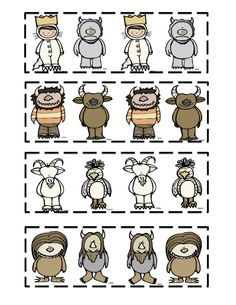 Wild about kindergarten clipart clip free library Where The Wild Things Are Characters Clip Art | Wild Things ... clip free library