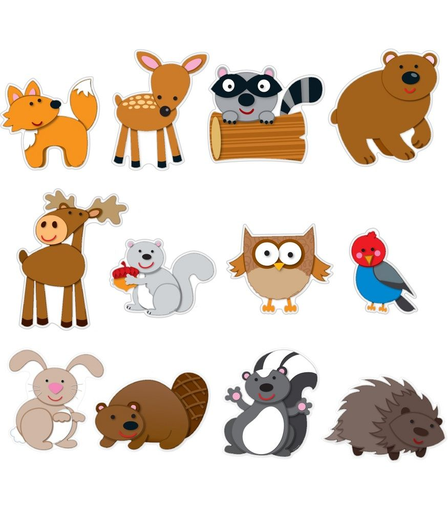 Wild about kindergarten clipart picture Your students will go wild for this woodland animal bulletin ... picture