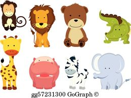 Wild animal clipart images clipart library download Wild Animals Clip Art - Royalty Free - GoGraph clipart library download