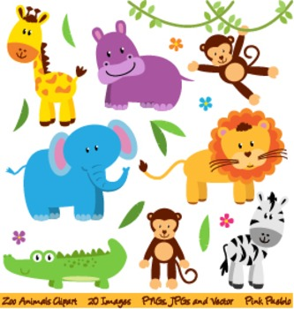 Wild animals clipart images banner transparent Zoo, Safari and Wild Animals Clipart and Vectors banner transparent