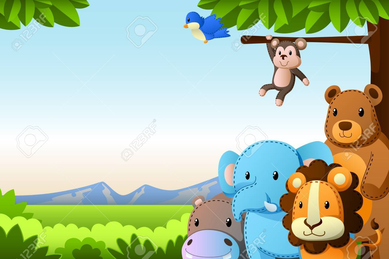 Wild background clipart banner freeuse Wild Animals Background » Clipart Portal banner freeuse