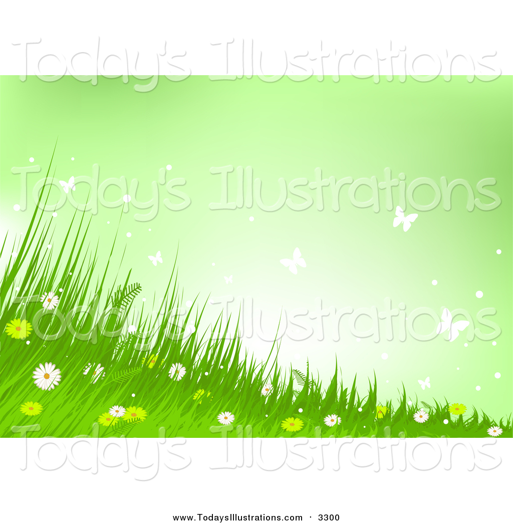 Wild background clipart image free stock Clipart of a Background of Wild Flowers, Grass and ... image free stock