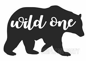 Wild bear clipart svg Details about IRON ON TRANSFER / STICKER - WILD ONE - BEAR - BOHO - T-SHIRT  TRANSFER svg