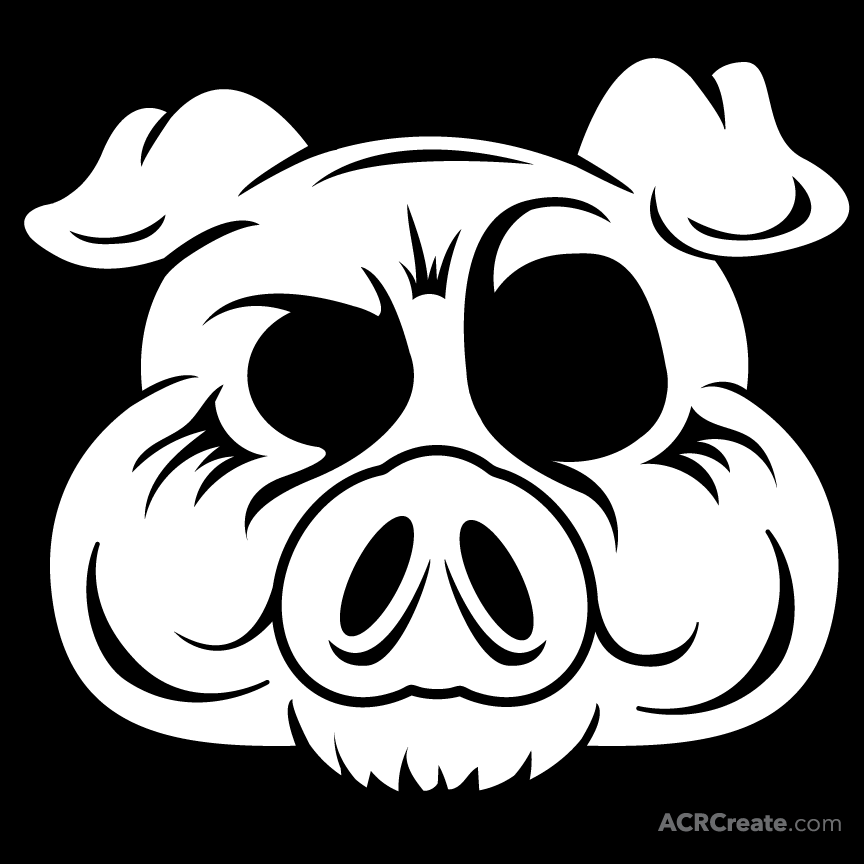 Wild boar skull clipart svg freeuse library Pig Skull Drawing at PaintingValley.com   Explore collection ... svg freeuse library