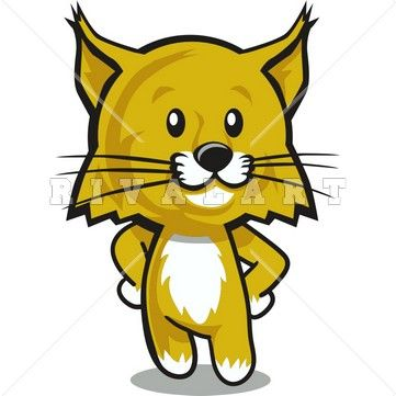Wild cat animal clipart banner royalty free download Clipart Image of a Wildcat Cub Graphic | Wildcat Clipart ... banner royalty free download