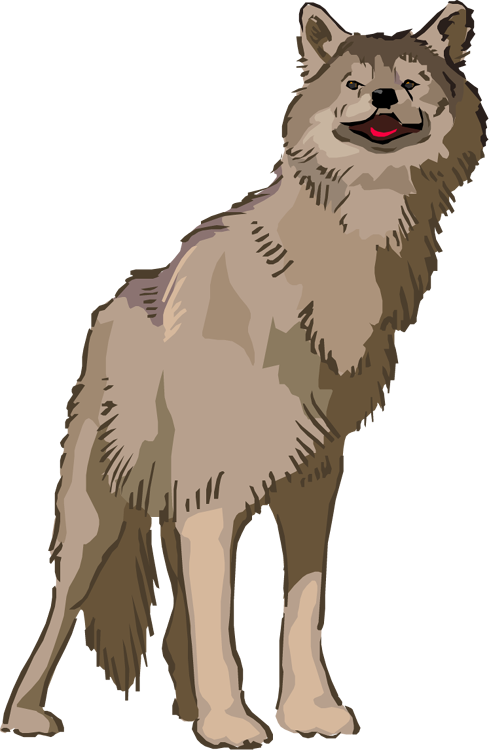 Wild dog clipart vector free library Free Wolf Clipart vector free library