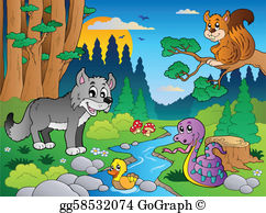 Wild forest clipart royalty free download Snake River Clip Art - Royalty Free - GoGraph royalty free download