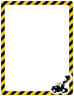Wild game border clipart clip free Construction Border   Construction: Look who\'s 2   Page ... clip free