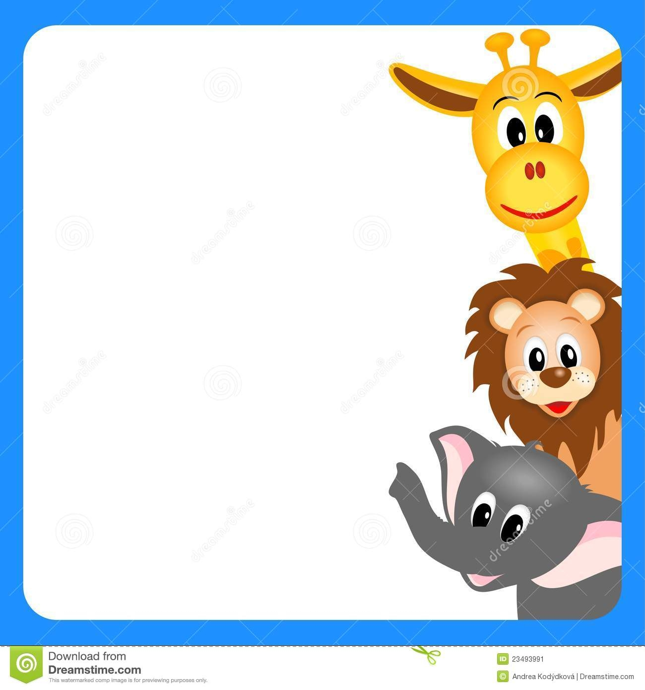 Wild game border clipart png library Wild animal clipart border - Clip Art Library png library