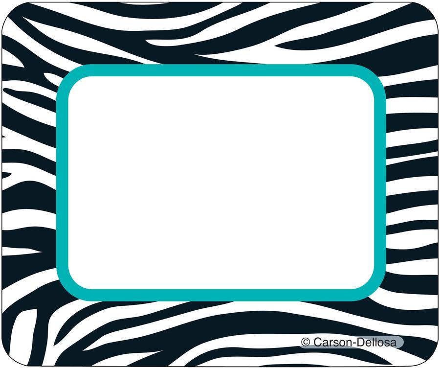 Wild game border clipart clip art freeuse library Wild Style Name Tags   CD-150032 - Clip Art Library clip art freeuse library