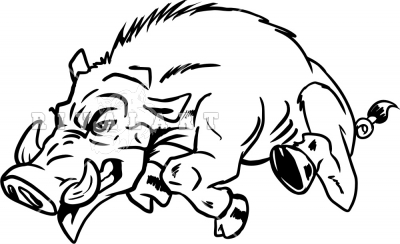 Wild hogs clipart image library download Wild Hog Running Left | Clipart Panda - Free Clipart Images image library download