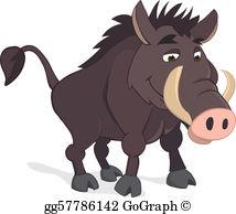 Wild hogs clipart clip art black and white stock Wild Boar Clip Art - Royalty Free - GoGraph clip art black and white stock