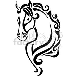 Wildhorse clipart vector royalty free stock wild horse head clipart. Royalty-free clipart # 385408 vector royalty free stock