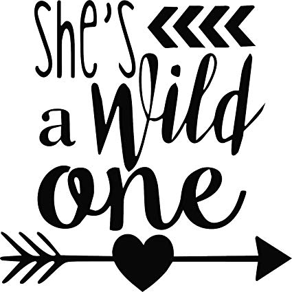 Wild one clipart picture download Amazon.com: SHE\'S A WILD ONE VINYL STICKER (10\
