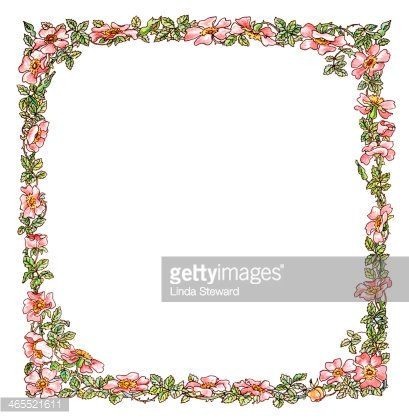 Wild rose clipart border png free stock Victorian Border of Wild Roses premium clipart - ClipartLogo.com png free stock