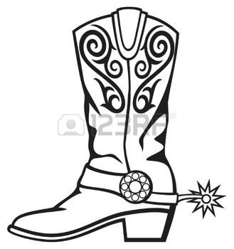 Wild west boots clipart banner download old west: cowboy boot   Country western   Cowboy boots ... banner download