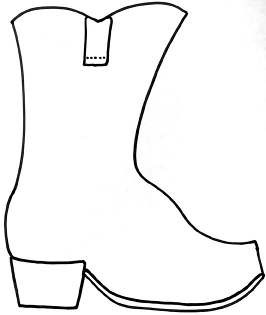 Wild west heading clipart free Cowboy boot craft. Copy onto brown construction paper or ... free