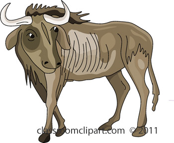 Wildabeast clipart clipart royalty free Wildebeest Clipart | Clipart Panda - Free Clipart Images clipart royalty free