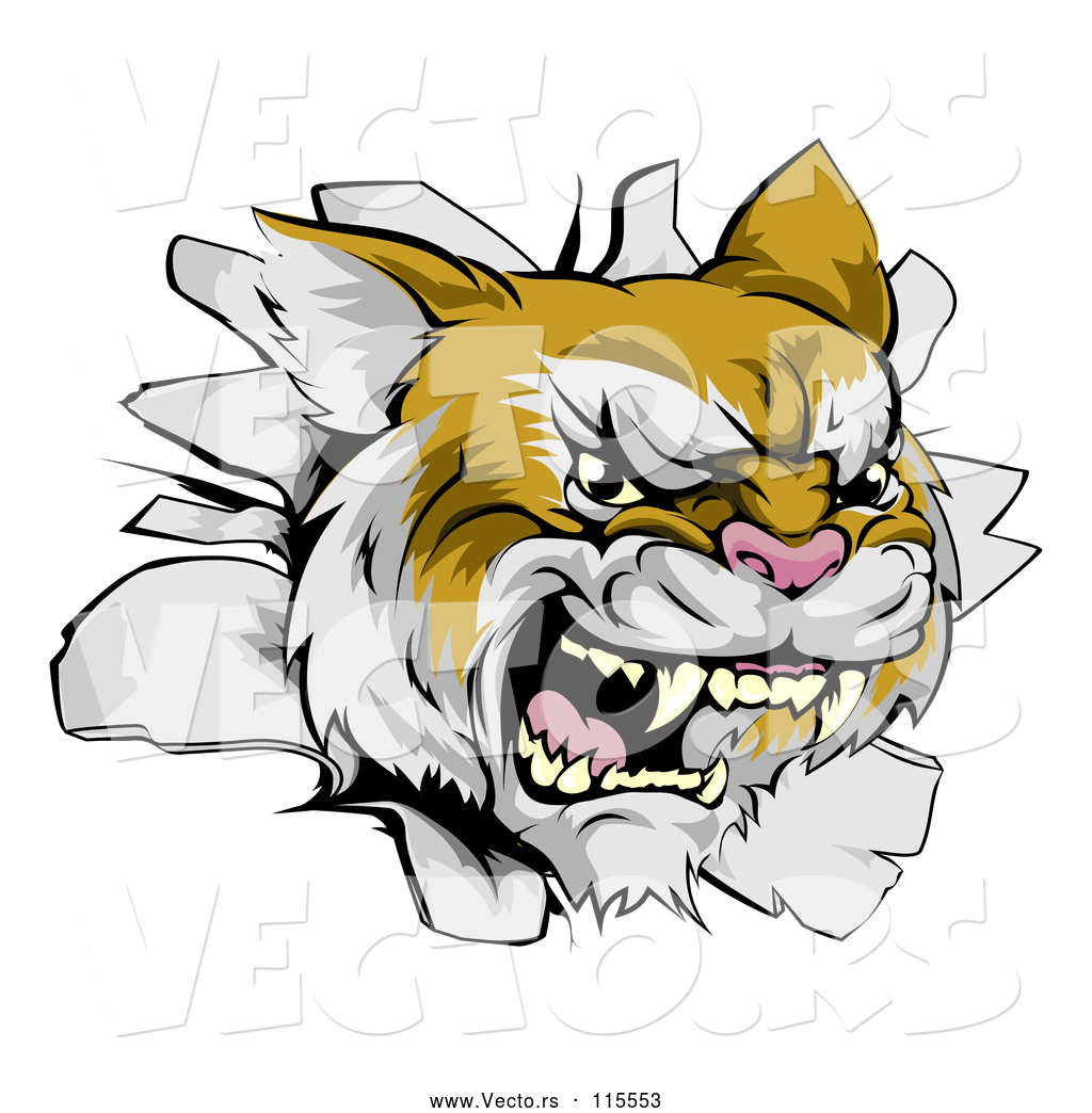 Wildcat arm ripping out clipart clipart free stock Vector of a Relentless Wild Cat Breaking Through a Wall by ... clipart free stock