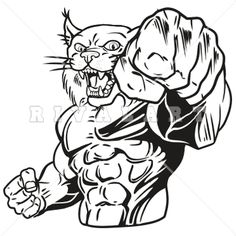 Wildcat arm ripping out clipart vector stock 25 Best Wildcat Clipart images in 2014 | Clip art, Vector ... vector stock
