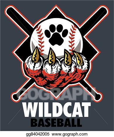 Wildcats baseball clipart clipart transparent stock Vector Clipart - Wildcat baseball . Vector Illustration ... clipart transparent stock