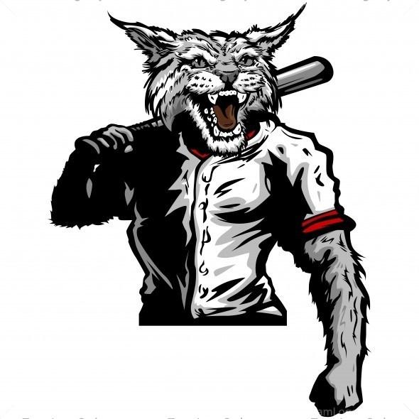 Wildcats baseball clipart svg Wildcat Baseball Player Clip Art - Vector Clipart Wildcat svg