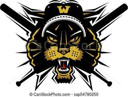 Wildcats baseball clipart image royalty free stock wildcats baseball mascot Vector - stock illustration ... image royalty free stock
