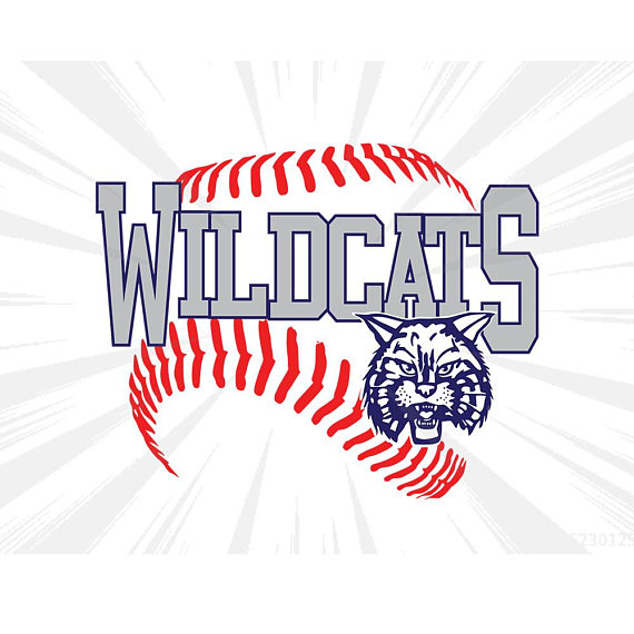 Wildcats baseball clipart vector black and white Wildcats baseball SVG DXF EPS Cricut,silhouette cameo,cut ... vector black and white