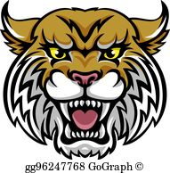 Wildcats clipart banner freeuse library Wildcat Clip Art - Royalty Free - GoGraph banner freeuse library