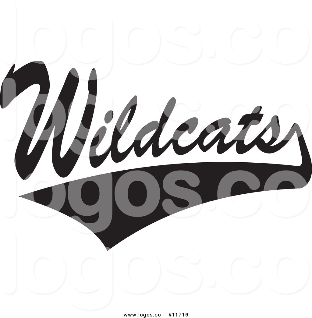 Wildcats clipart image transparent download Royalty Free Clip Art Vector Logo of a Black and White ... image transparent download