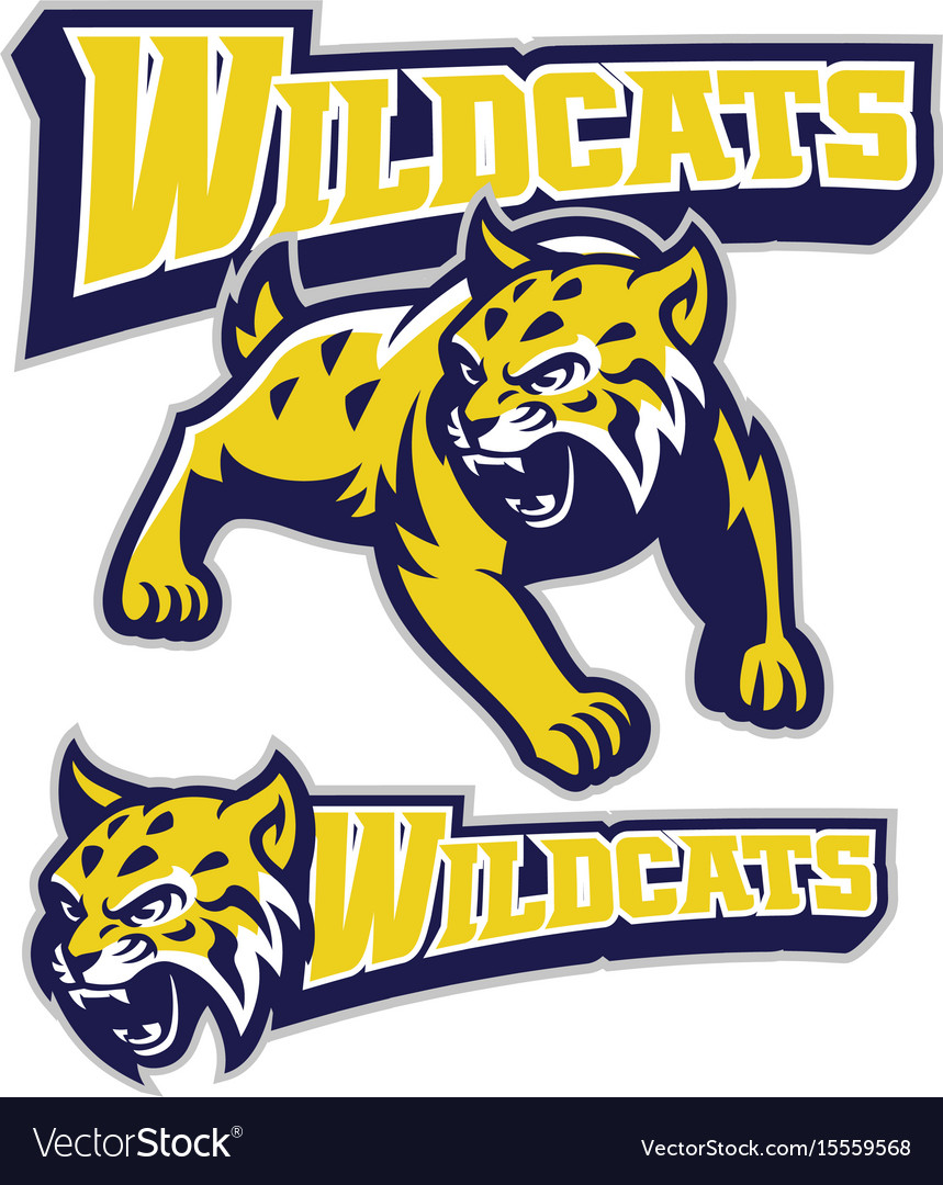 Wildcats mascot clipart graphic free Angry wildcat mascot graphic free