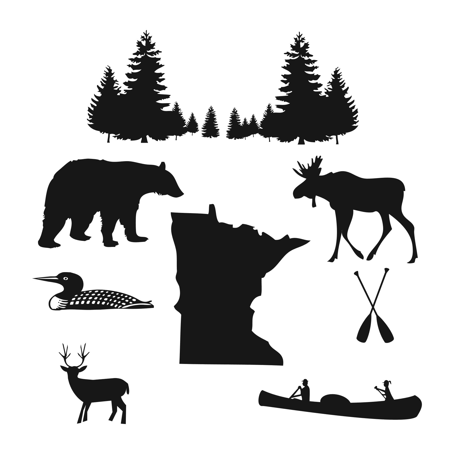 Wilderness clipart free clipart royalty free download Minnesota Wilderness clip art clipart royalty free download