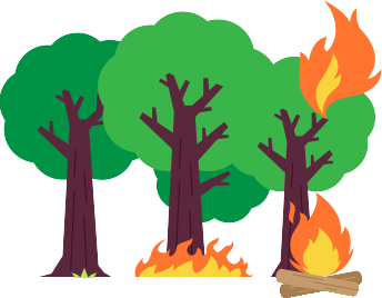 Wildfires clipart png black and white Forest and Wildfire Guide - What Causes Them and How to ... png black and white