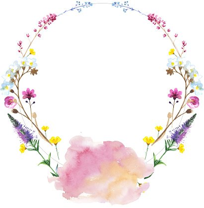 Library Of Wildflowers Wreath Svg Free Download Png Files Clipart Art 2019