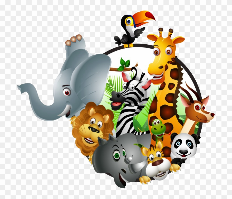 Wildlife clipart images picture black and white library Animal Kingdom Clipart Safari Kid - Cartoon Wildlife - Png ... picture black and white library