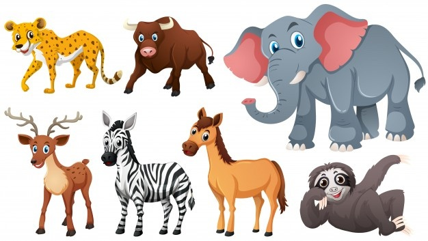 Wildlife clipart vector vector black and white Animals vectors, +141,000 free files in .AI, .EPS format vector black and white
