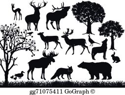 Wildlife clipart vector clipart transparent download Wildlife Clip Art - Royalty Free - GoGraph clipart transparent download