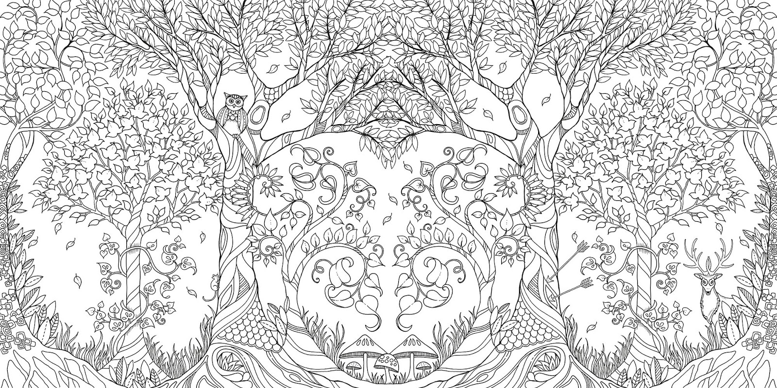 Wildlife habitat in backyard black and white clipart banner royalty free stock Grown Up Coloring Books Are Here! - The Backyard Naturalist banner royalty free stock