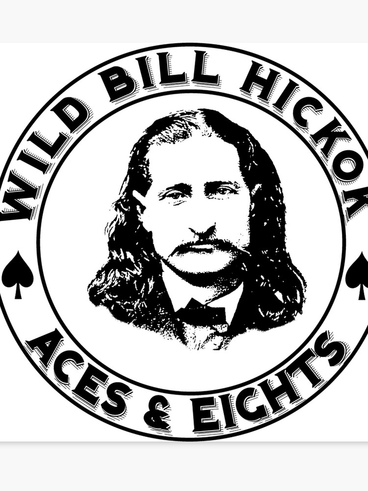 Will bill hikcock clipart graphic royalty free library Wild Bill Hickok - Aces & Eights | Canvas Print graphic royalty free library