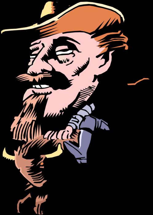 Will bill hikcock clipart graphic royalty free download Wild Bill Buffalo Bill Hickok - Vector Image graphic royalty free download