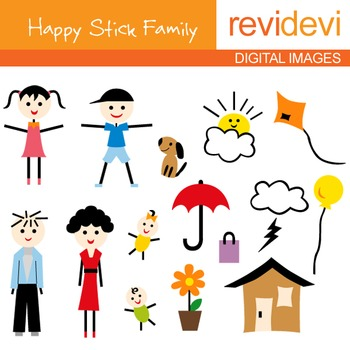 Will it stick clipart picture freeuse stock Stick family clip art: parents, kids picture freeuse stock