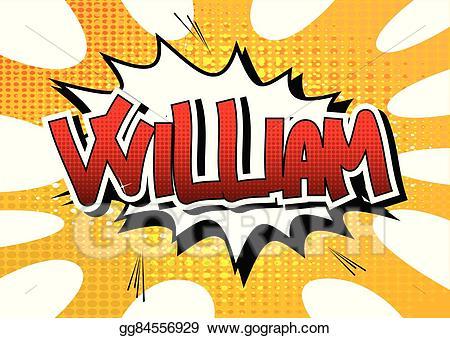 William clipart clip library stock Vector Stock - William- comic book style male name. Clipart ... clip library stock