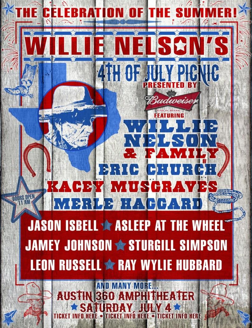 Willie 4th july clipart jpg free Willie Nelson\'s 4th of July Picnic | www.stillisstillmoving.com jpg free