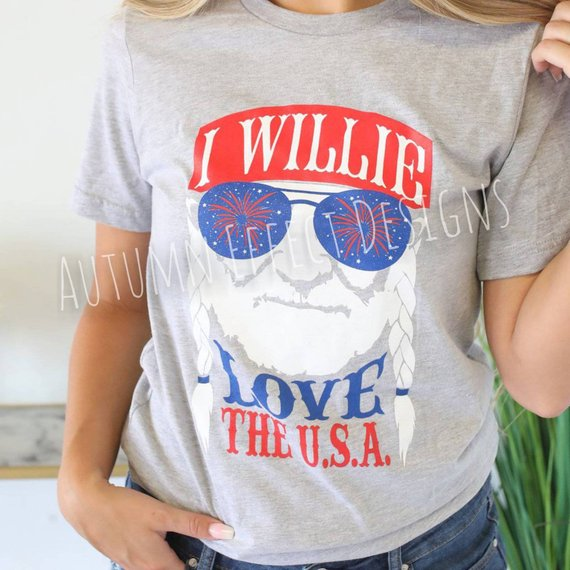 Willie 4th july clipart jpg transparent I Willie Love The USA SVG Willie Nelson Cut File for 4th of ... jpg transparent