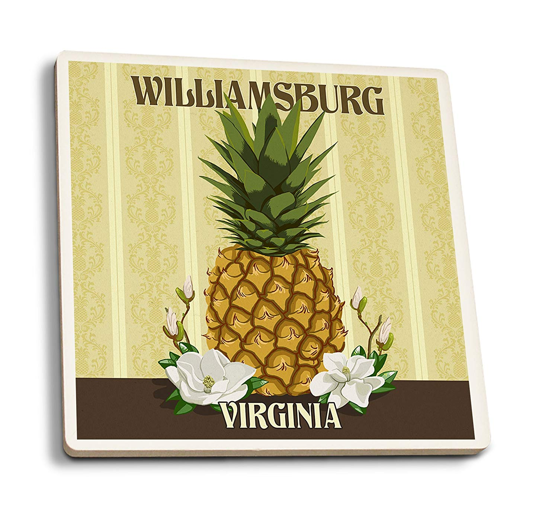 Williiamsburg style pineapple clipart jpg royalty free download Lantern Press Williamsburg, Virginia - Colonial Pineapple (100% Cotton Tote  Bag - Reusable) jpg royalty free download