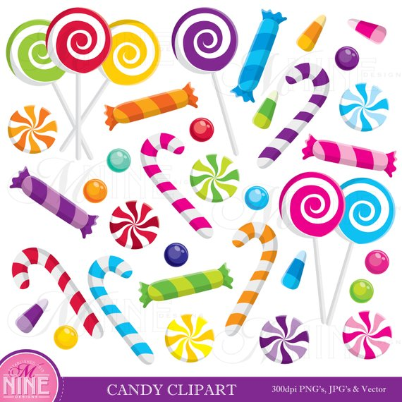 Willy wonka sweets clipart svg transparent library CANDY Clip Art / CANDY Clipart Downloads / Candy Theme Party ... svg transparent library