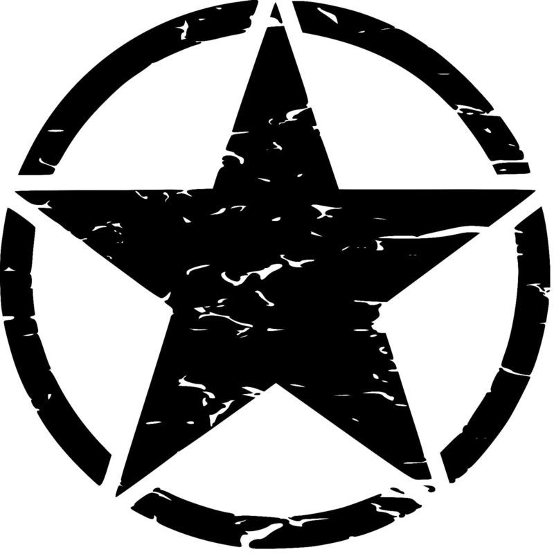 Willys logo clipart vector black and white Military Jeep Army Star Buy 1 get 1 free, USMC, Willys ... vector black and white