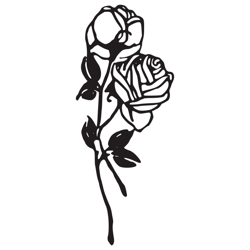 Wilted flower clipart svg library library Rose Black And White | Free download best Rose Black And White on ... svg library library
